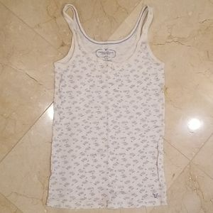 Like-New American Eagle Floral Tank with Bow